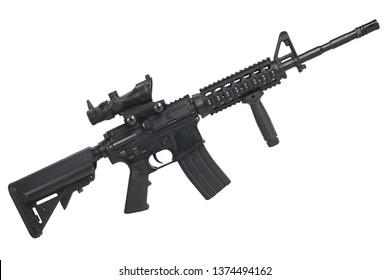 M4 assault rifle isolated on a white background