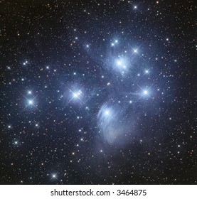 M45 The Pleiads open cluster in Taurus