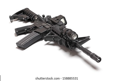 M4A1 (AR-15) carbine isolated on a white background