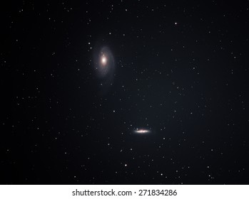 M81 and M82 , The galaxy's large size and relatively high brightness also make it a popular target.