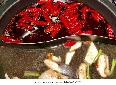 Ma la Hot Pot or Szechuan Spicy Hot Pot , the traditional Chinese numbing and spicy recipe