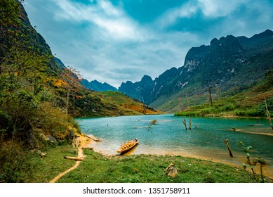 Ma Pi Leng Mountain view from Nho Que River, one of the most beautiful is a River  in Vietnam