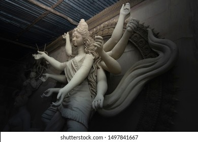 Maa Durga Making Stock Photo