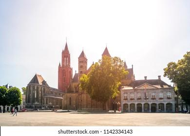 Maastricht, Cathedral, Vrijthof, Netherlands