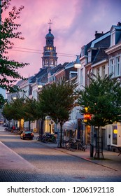 Maastricht, evening in  historical center of town