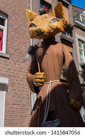 Maastricht, Netherlands 6/2/2019 giant Reinaert the fox from Belgium making his appearance in the international giant parade in Maastricht