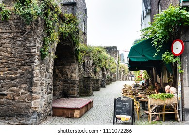 MAASTRICHT, THE NETHERLANDS - june 10, 2018: restaurant in Maastricht, Netherlands.