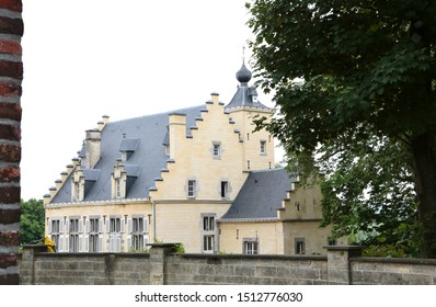 Maastricht, The Netherlands - June 5, 2019: House the Turrets of André Rieu, a Dutch violinist and conductor best known for creating the waltz-playing Johann Strauss Orchestra  in Maastricht