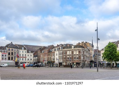 MAASTRICHT,NETHERLANDS - MAY 16,2018 - At the Marketplace of Maastricht. Maastricht is the capital and largest city of the province of Limburg.