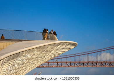 The MAAT - Museum of Art, Architecture and Technology is Lisbon Portugal. January 2019