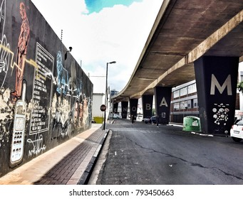 Maboneng Precinct on January 21, 2017 in Johannesburg. One of South Africa's hippest urban districts