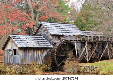 Mabry Mill is an old grist mill on the Blue Ridge Parkway