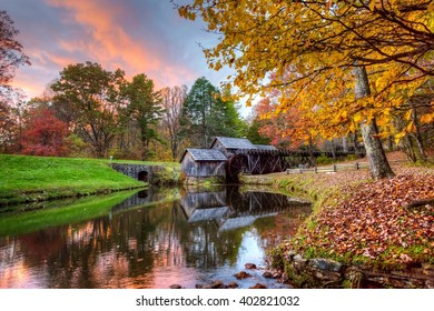 Mabry Mill at Sunset in October