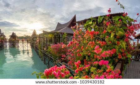 Mabul Island Sunset View Resort Stock Photo Edit Now