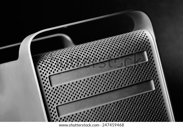 Mac Pro case close up with unique composition