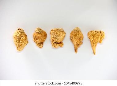 maca root grain white background