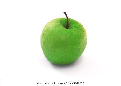 Maca verde fruta (green apple fruit in portuguese) closeup