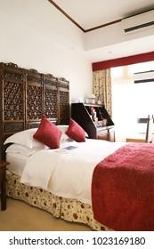 MACAO, CHINA, APRIAL, 2016: hotel room of the Pousada de Mong-Há in Macao