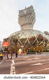 Macao, China - February , 2015: Holiday in Macao, Grand Lisboa