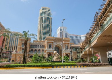 MACAO, CHINA - OCT 20 : The Shoppes At Four Seasons is the large department store in Cotai island , Macao on October 20 2017.