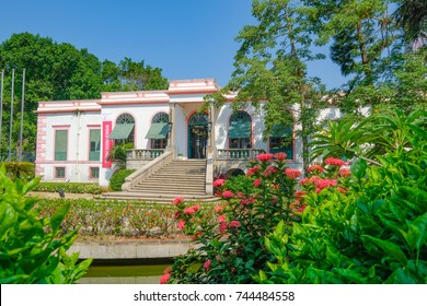 MACAO, CHINA - OCT 22 : The Casa Garden is  a small parkette, the headquarters of the Macau delegation of the Orient Foundation in Macao on October 22 2017.
