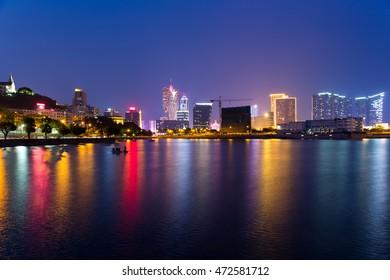 Macao cityscape at night