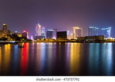 Macao skyline night