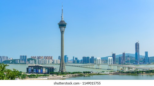 macao,china - Jul,21,2018:macao tourism tower in macao china,this is the landmark building in the city.