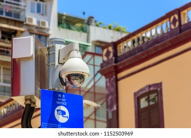 Macao/China-2018/05/20:Surveillance camera in Macao