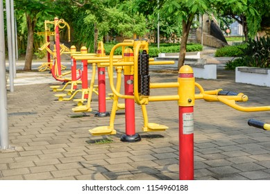MACAO/CHINA-2018/07/21:Health Exercise Equipment in public park