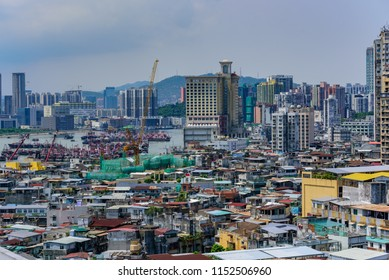 Macao/China-2018/07/21:skyline of macau, China