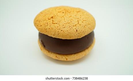 Macaron in macro photo