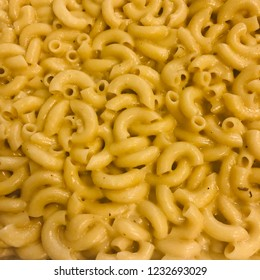 Macaroni and Cheese Pasta Dish with Mac Noodles and Melted Cheeses Close Up