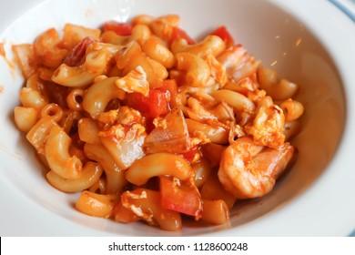 macaroni or shrimp macaroni or pasta
