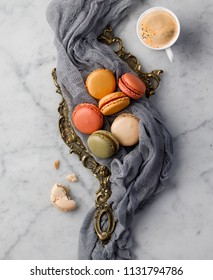 Macarons with cafe