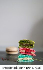 macarons - french colored almond cookies