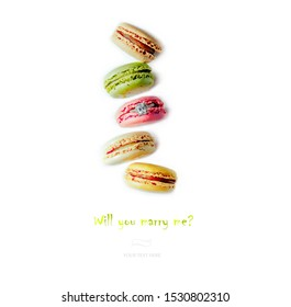 Macarons isolation copy for text.