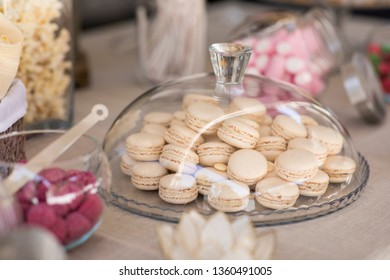 Macarons on a sweet table.