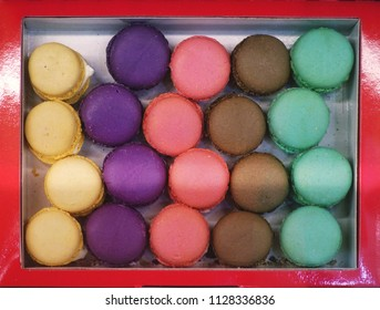 Macarons in a variety of colors