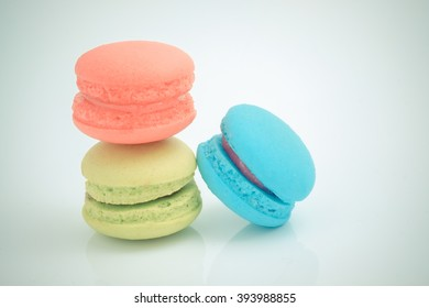macaroon with filter effect retro vintage style