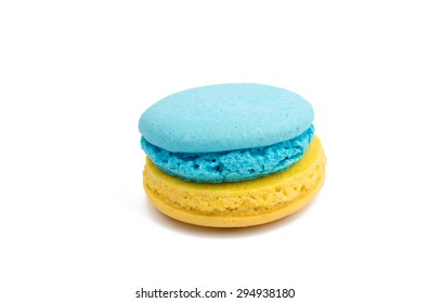 macaroon on a white background
