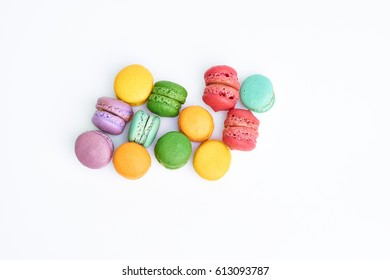 A macaroon over white background