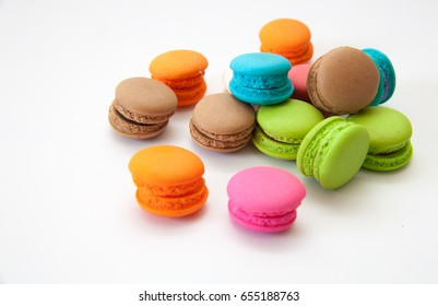 macaroon,colorful almond cookies