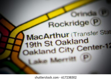 MacArthur Station. San Francisco Metro map.