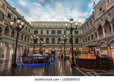 MACAU, CHINA - 15 MARCH 2018: Venetian hotel