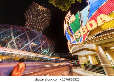 Macau, China - June 30, 2016: Grand Casino Lisboa in Macau. Macau is the world's top casino market and Casino Lisboa is one of the most well known casinos in the city.