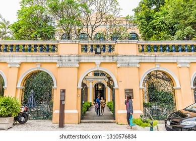 Macau, China - October 23, 2018: Sir Robert Ho Tung Library in Macau, China.
