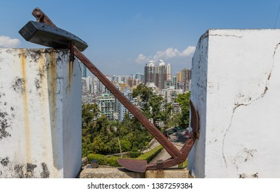 Macau, China - Portuguese colony until 1999, a Unesco World Heritage site, Macau shows many wonderful landmarks from the colonial period, like the Guia Fortress here in the picture