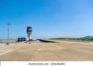MACAU, CHINA - SEPTEMBER 23, 2018:  Macau International Airport, is an international airport in the special administrative region of Macau, situated at the eastern end of Taipa island.