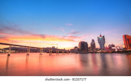 Macau city sunset moment